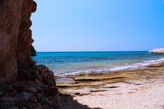 Sjösidasikt från Tassos Greece Royaltyfri Fotografi