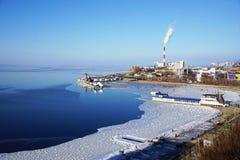 Sjösidastaden Royaltyfri Fotografi