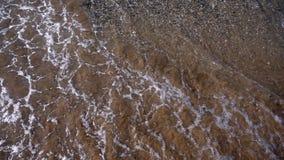 Sjösidavågor och sand lager videofilmer
