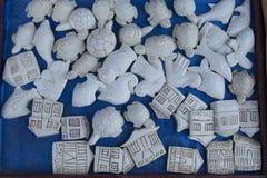 Sjöskumspipaskulpturer Arkivbilder