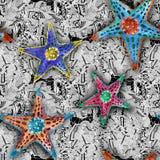 Sjöstjärna vid vattenfärger royaltyfri illustrationer