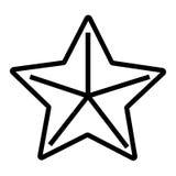 Sjöstjärnasymbol royaltyfri illustrationer