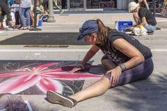 Sjövärde, Florida, USA Fab 23-24, 25Th årliga gata som 2019 målar festen royaltyfria foton