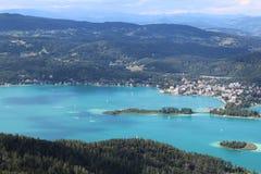 Sjövärde, i Österrike Arkivfoto