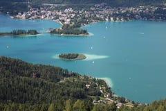 Sjövärde, i Österrike Royaltyfria Bilder