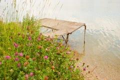 Sjövågbrytare i sommar Tid Royaltyfri Fotografi