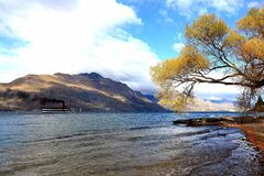 Sjöwakatipu NZ fotografering för bildbyråer