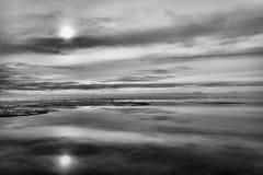SjöWinnipeg solnedgång Fotografering för Bildbyråer