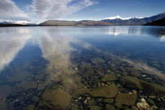Sjö Manapouri, södra ö, Nya Zeeland. Royaltyfri Foto