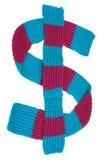 Sjaal in de vorm van een dollarteken Royalty-vrije Stock Afbeelding