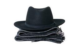 Sjaal en hoed. Stock Afbeeldingen