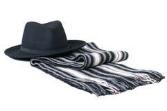 Sjaal en hoed. Royalty-vrije Stock Foto's