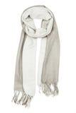 Sjaal grijze gestreept, geïsoleerd, op een witte achtergrond Royalty-vrije Stock Afbeeldingen