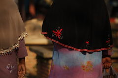 Sjaal van moslimvrouwen Stock Afbeeldingen