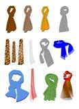 Sjaals Stock Foto's
