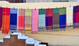 Sjaals aan de markt Royalty-vrije Stock Fotografie