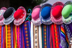 Sjaals en hoeden royalty-vrije stock foto
