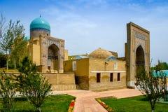 Sjah-I-Zinda herdenkings complex, necropool in Samarkand, Oezbekistan stock foto's