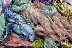 Sjalar och scarfs Royaltyfria Foton
