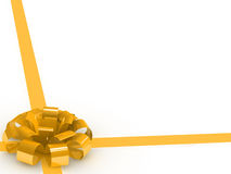 sjalpilbåge och band för gåva 3d Royaltyfri Bild