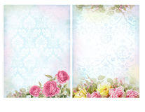 Sjaskiga chic bakgrunder med rosor Royaltyfri Foto