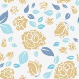 Sjaskiga chic Rose Pattern och sömlös bakgrund Royaltyfria Bilder