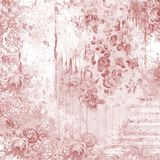 Sjaskiga chic Rose Textured Background Paper - Scrapbooking - Papercrafting - karmosinröd modell vektor illustrationer