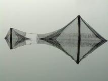 Sjaskiga fisknät Arkivfoto