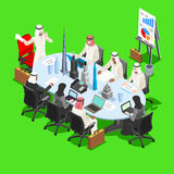 Sjeik Businessman Isometric People Royalty-vrije Stock Foto
