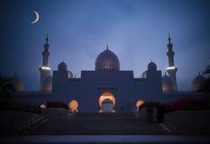Sjeik Zayed Mosque stock afbeeldingen