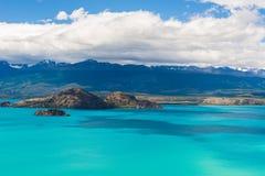 Sjögeneral Carrera i Patagonia, Chile Royaltyfri Bild