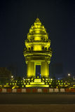 Självständighetmonument i Phnom Penh cambodia Arkivbilder