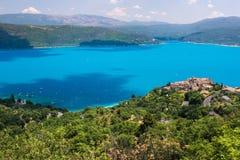 Sjön av Sainte-Croix, Frankrike Royaltyfri Fotografi