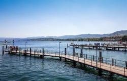 Sjön Zurich är en sjö i Schweiz Royaltyfri Foto