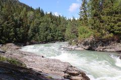 The Sjoa river near the Sjoa kayak camp. Royalty Free Stock Photography