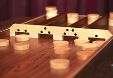 'Sjoelen' is a traditional Dutch game royalty free stock images