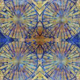 Sjofel gekleurd abstract patroon op blauwe achtergrond Royalty-vrije Stock Foto's