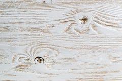 Sjofel wit geschilderd houten textuurclose-up als achtergrond stock foto's