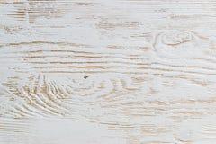 Sjofel wit geschilderd houten textuurclose-up als achtergrond royalty-vrije stock foto