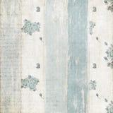 Sjofele blauw nam patroon op houten omheining toe stock afbeelding