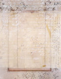 Sjofele Elegante uitstekende bloemenachtergrond met manuscript Stock Fotografie