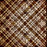 Sjofele plaid in bruine strepen Royalty-vrije Stock Afbeelding