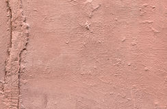 Sjofele roze geschilderde concret muur royalty-vrije stock afbeeldingen