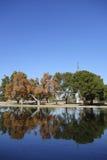 Sjöspegel, Cortez Park, Phoenix, AZ Arkivbild