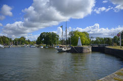 Sjötorp Harbour and Lock, Sweden Royalty Free Stock Photography