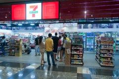 Sju elva shoppar i Hong Kong Arkivfoton