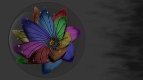 Sju-färgad blomma i en bubbla Arkivfoto