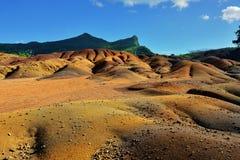Sju färgat land Fotografering för Bildbyråer