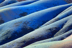 Sju färgat land mauritius Arkivbild