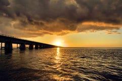 Sju mil solnedgång Arkivfoton